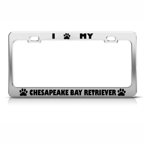 CHESAPEAKE BAY RETRIEVER DOG DOGS Metal License Plate Frame Tag Holder