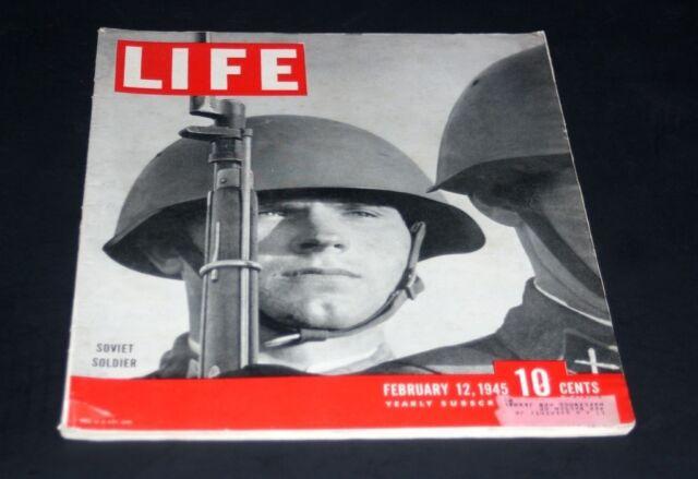 LIFE MAGAZINE FEBRUARY 12 1945 SOVIET SOLDIER