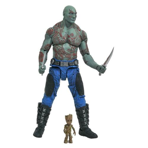 Guardians of Galaxy 2 Drax /& Groot Marvel Select Comics Baby Action Figures