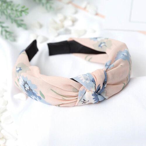 29 Colors Cloth Wide Dot Flower Headband Strip Bowknot Soft Cross Hair Band Hoop