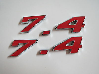 427 ENGINE ID FENDER HOOD TRUNK EMBLEMS NEW SET CHROME CHEVROLET