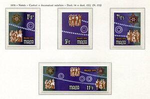 37514) Malta 1978 MNH Christmas 4v