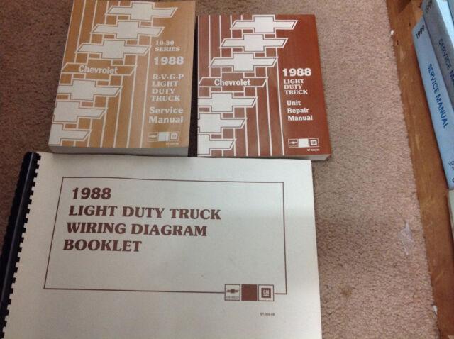 1988 Chevy Rvgp R V G P Truck Service Shop Repair Manual