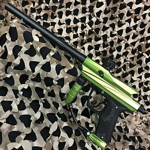 NEW-Azodin-Kaos-2-Mechanical-Semi-Auto-68-Cal-Paintball-Gun-Marker-Lime-Green
