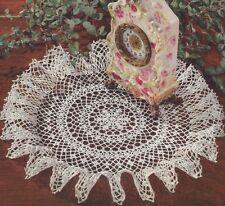 Vintage Crochet PATTERN to make Pineapple Dove Tail Fan Doily Centerpiece Mat Pi