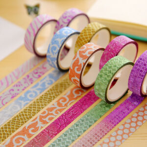 10Decorative-sticky-masking-Washi-paper-tape-DIY-Scrapbooking-Masking-Craft-Tape