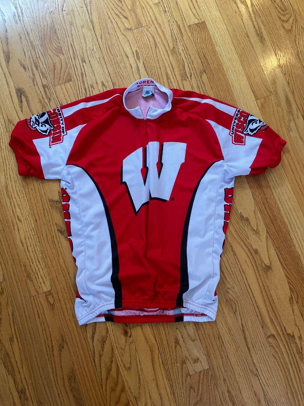 WISCONSIN Badgers Racing Bike Cycling Jersey adult Größe XL NCAA World Jerseys