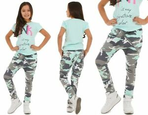 Madchen-Hose-Baggy-Camouflage-Zip-Skate-Chino-116-158-hk288