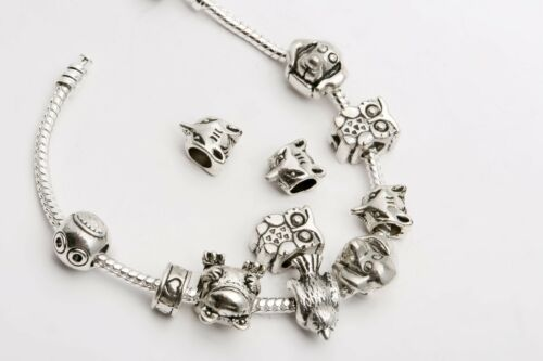 50//100pcs Wholesale  Silver Plated Loose Spacer Beads Charms Jewelry Making DIY