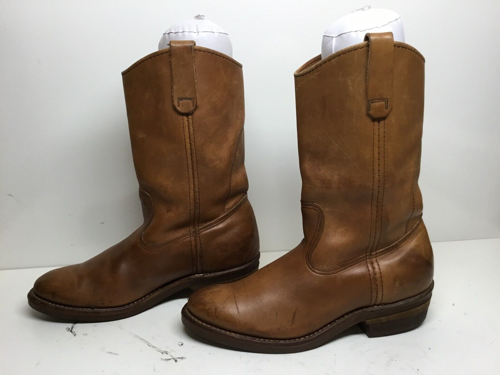 VTG MENS RED WING WORK LEATHER BROWN BOOTS SIZE 7 D
