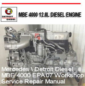 Detroit Diesel MBE 4000 Service Workshop Manual Factory Digital ...