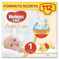 Huggies Bebè Pannolini, Taglia 1 (2-5 kg), 4 Pacchi da 28 Pezzi - 112 Pannolini
