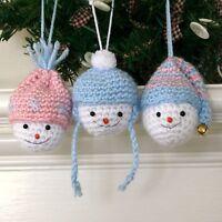 Christmas Frosty Snowman Crochet Ornament Kit Makes 3