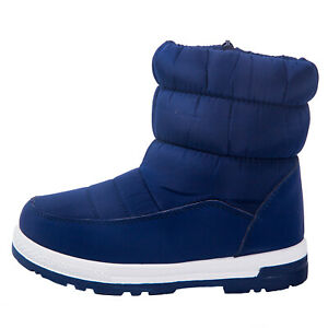 Boy/'s Girl/'s Outdoor Snow Boots Waterproof Winter Waterproof Fur Lined Kids
