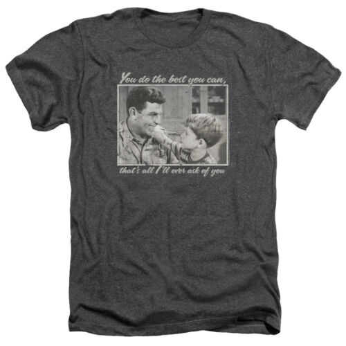 Andy Griffith Show Picture Opie WISE WORDS Adult Heather T-Shirt All Sizes