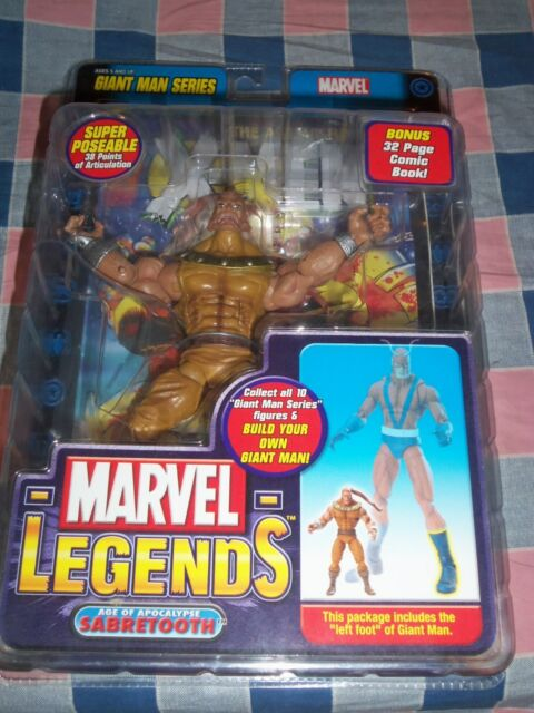 Giant Man Left Foot BAF RARE came with Sabertooth New