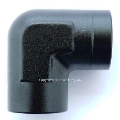 1//8 NPT BLACK 90 Degree FEMALE ELBOW Coupler Union Hose Fitting Adapter