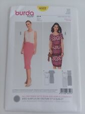BURDA PATTERN DRESS /& SKIRT WITH WRAP OPTION SEMI FITTED MISSES/' SZ 8-18 # 6831