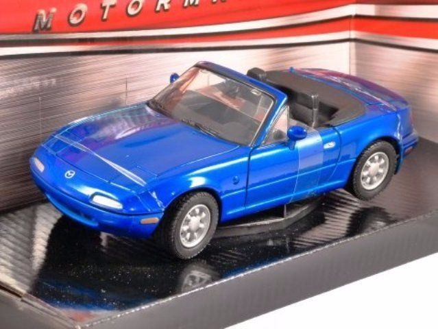 Mazda MX-5 bluee, 1 24 Scale Motormax Diecast Model Car