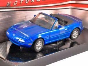 MAZDA-MX-5-BLU-SCALA-1-24-MotorMax-Modello-Diecast-Auto