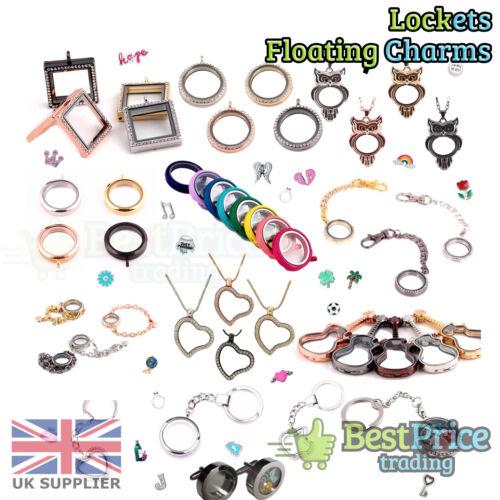 QUALITY Living Memory Floating Charm Locket Pendant Necklace Bracelet Keychain