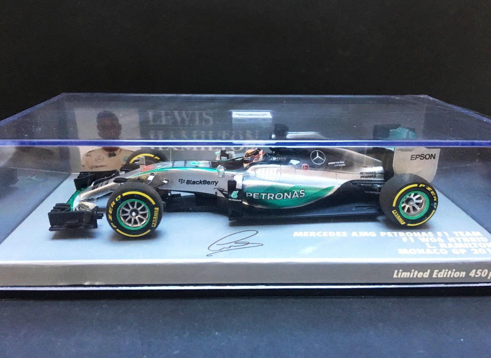 Minichamps - Lewis Hamilton  - Mercedes Petronas - W06 - 1 43 - Monaco GP - 2015  haute qualité