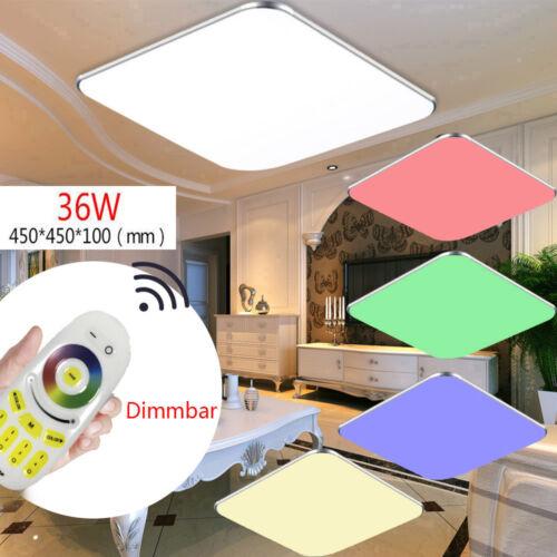 24W-48W LED Deckenleuchte RGB Dimmbar Farbwechsel Deckenlampe Wand Panel Lampe