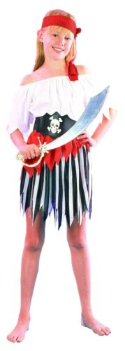 Girls Pirate Costume Book Week Fancy Dress Pirata Outfit Peter Pan NEW Age 6-8