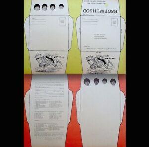 Beatles-1964-Vintage-Stationary-9x12-034-Promo-Pinup-John-Ringo-George-Paul-EX-COA