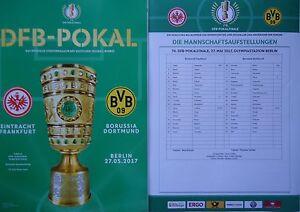 Programm Aufstellung Pokal Finale 2017 Eintracht Frankfurt