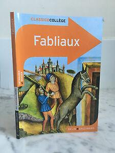 Fabliaux Classicocollege Belin Gallimard 2013