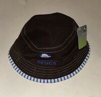 Crocs Baby Reversible Brown/blue Hat 12-24 Months