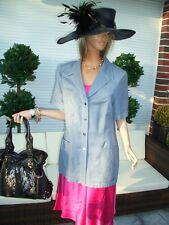 Luxus ESCADA SOMMER Abend Blazer Jacket GUABELLO Hochzeit 42/44/46 blau silber