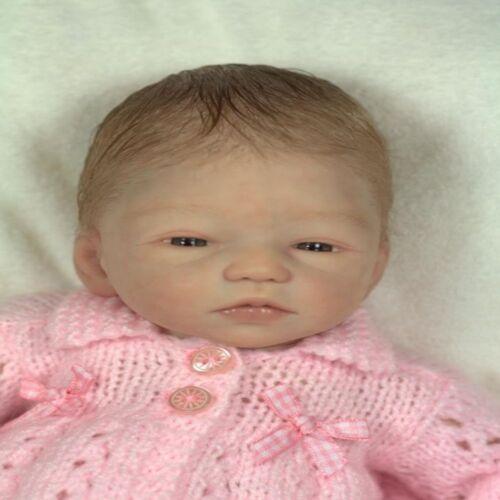 Reborn Dolls Kit Limbs /& Head Vinyl Silicone Handmade Sleeping Baby Doll 13 Inch