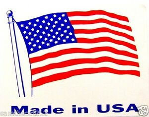 500 3.5 x 4.5 MADE IN AMERICA  USA FLAG LABEL STICKER