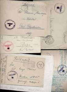 (3616) 1940-42, 10 Fp Dab. Dt. Reichspost G, H, Tarn-main U Maschinenst. S-afficher Le Titre D'origine