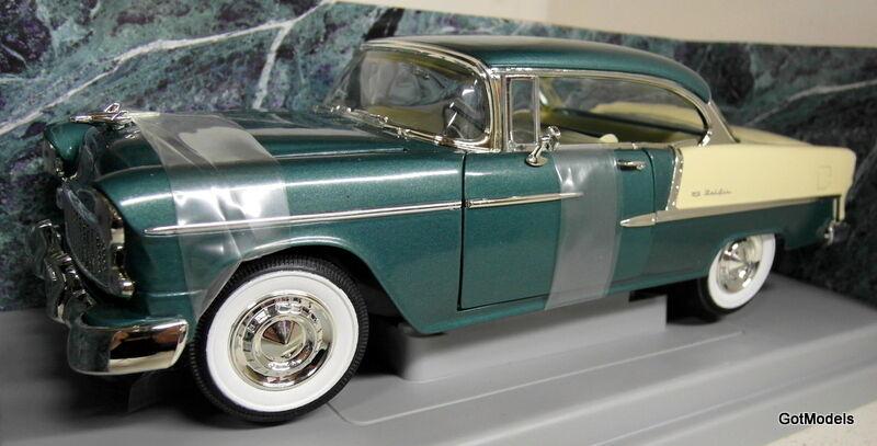 ERTL échelle 1 18 - 7256 1955 CHEVROLET BEL AIR Vert Métallique voiture modèle métalliques