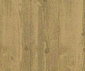 Embossed-Textured-Caramel-Brown-Wood-Planks-Unpasted-Wallpaper-HE1002