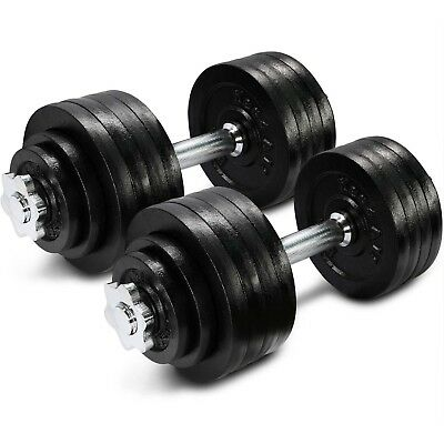 Yes4All 105 lbs Adjustable Dumbbells Set Gym Cap Plate Weight Fitness - ²DWP2F
