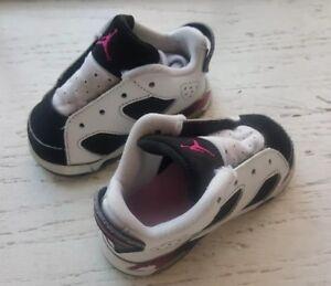 3c938a9f34fc4e AIR JORDAN Baby Kids Sneakers Shoes Infant Size 4C US WHITE   BLACK ...