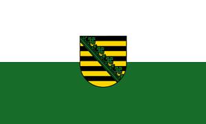 Fahne Sachsen Hissflagge 90 x 150 cm mit 2 Ösen Flagge