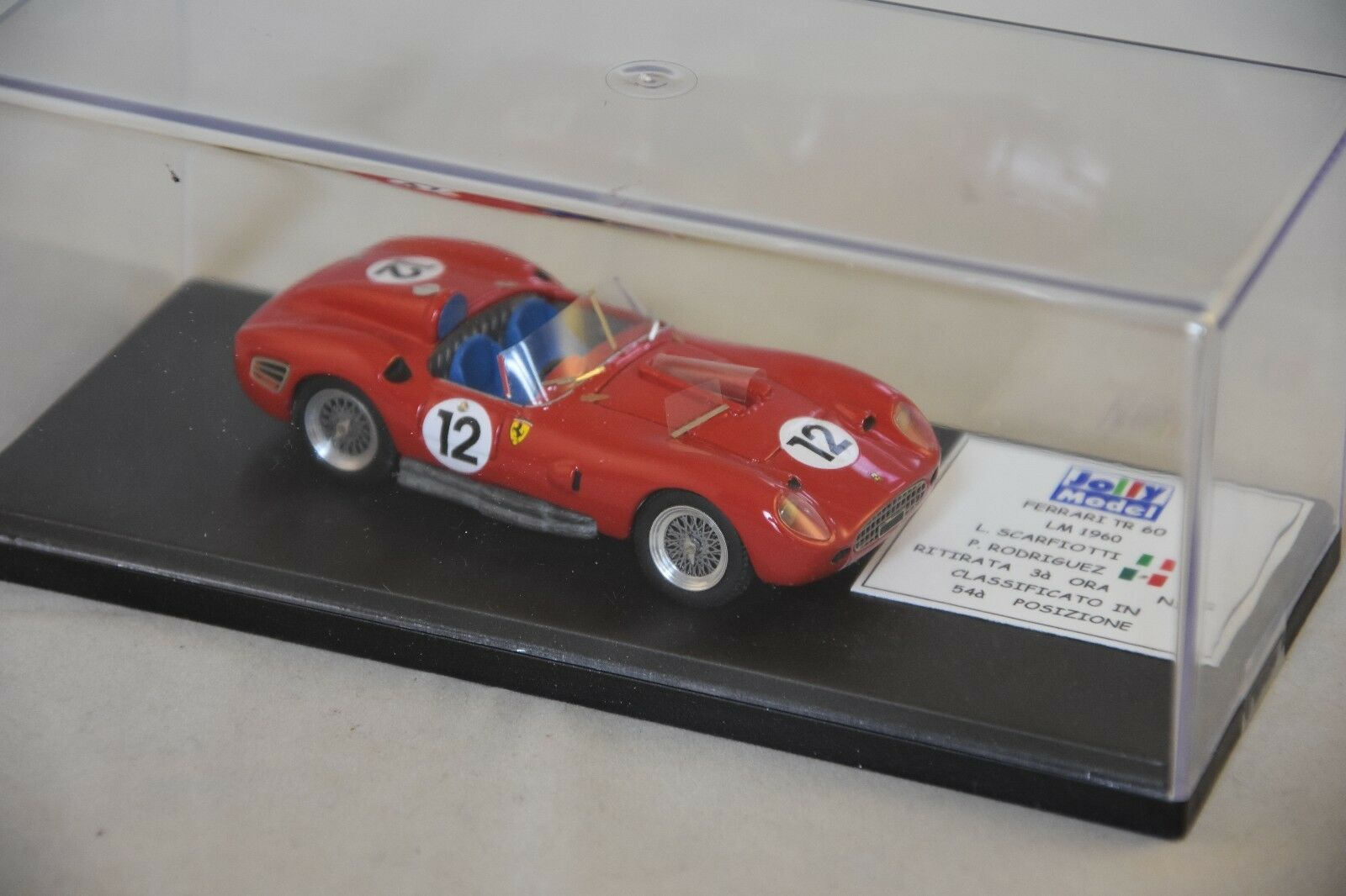 JOLLY MODEL JL0101 - FERRARI 250 TR 60 60 60 LE MANS 1960 N°12 1 43 128731