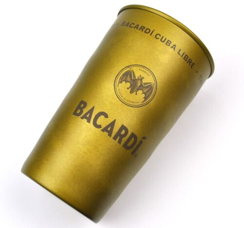Bacardi Cuba Libre Rum USA Metal Tumbler Cocktail of Freedom Bat Logo