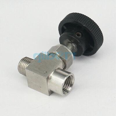 Maniny 1//4 Bsp Equal Female Thread 304 Stainless Steel Flow Control Shut Off Needle Valve,Adjustable Right Angle Needle Valve
