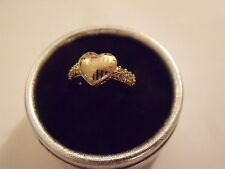 BAGUE COEUR ANELLO HEART RING OR 18K YELLOW GOLD FILLED RING T 7 New