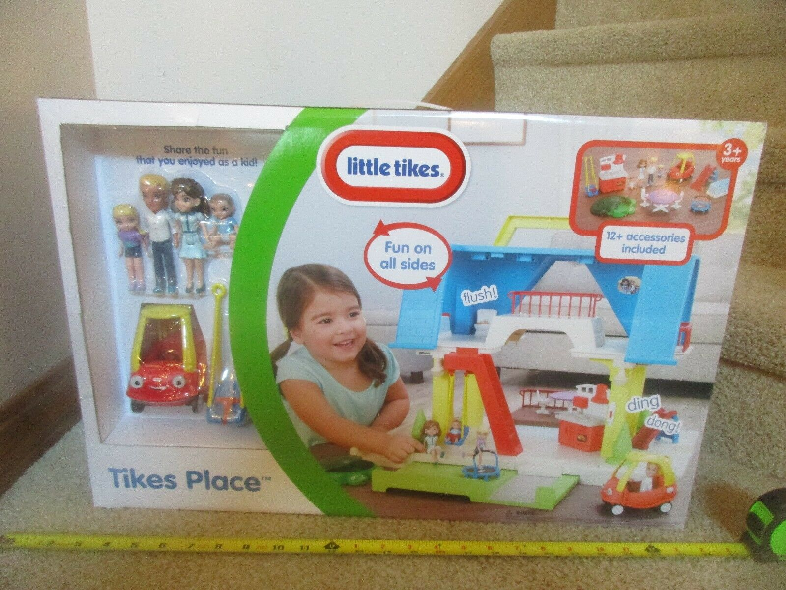 Little tike tikes place play set NIB fun fun fun to share car swing people house stove c9b9b8
