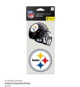 Pittsburgh-Steelers-2-Aufkleber-Helm-Logo-Decal-Badge-Emblem-NFL-Football