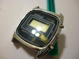 Vintage 1970s otron quartz lcd watch for mens nos new old stock details as is