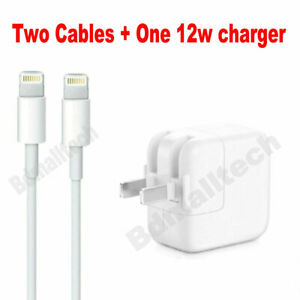USB Cable Original 12W USB Power Adapter wall charger for Apple iPad 2 3