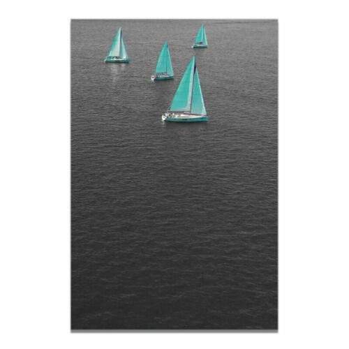Black Yellow Blue Boat Canvas Poster Picture Print Wall Hangings Home Decoration